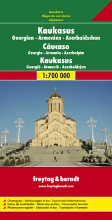Kaukázus: Grúzia-Örményország-Azerbajdzsán autótérkép - f&b AK 154