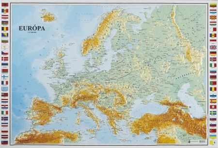 Európa domborított térképe (118 x 82) - HM