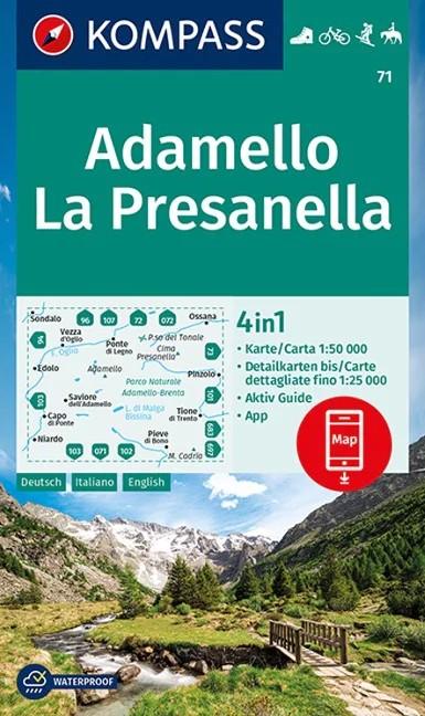 WK 71 - Adamello - La Presanella turistatérkép - KOMPASS