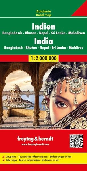 India - Nepál - Banglades - Sri Lanka - Bhután autótérkép - f&b AK 110
