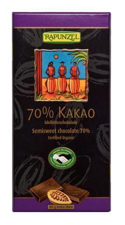 Rapunzel Bio csokoládé, svájci keserű csokoládé 70%-os 80gr
