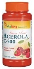 VitaKing C-vitamin, Acerola C-500 mg rágótabletta 50 db (VK806)