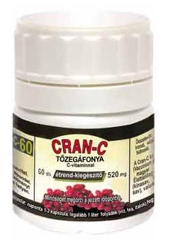 CRAN-C tőzegáfonya (húgyúti fertőző betegségek megelőzésére) 60db