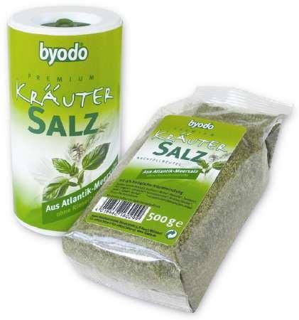 Byodo só, fűszeres atlanti tengerisó utántöltő 500 gr