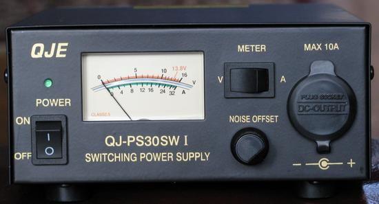 PS30SW, a villanybors - 13,8 V DC / 28-30 A-es stab. táp.